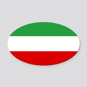 Iran Oval Car Magnet