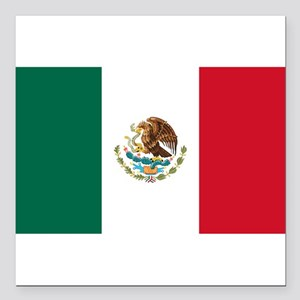 "Mexico Square Car Magnet 3"" x 3"""