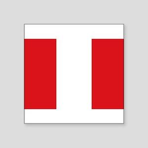 """Peru Square Sticker 3"""" x 3"""""""