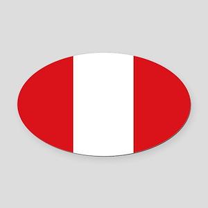Peru Oval Car Magnet