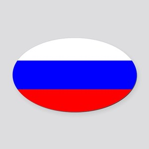 Russia Oval Car Magnet