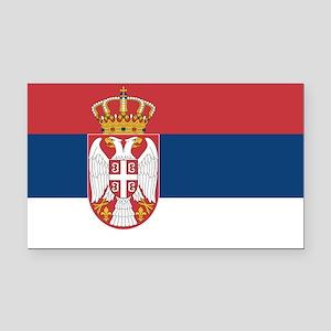 Serbia Rectangle Car Magnet