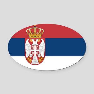 Serbia Oval Car Magnet