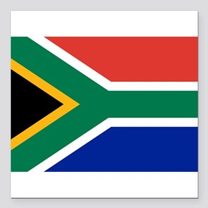 """South Africa Square Car Magnet 3"""" x 3"""""""