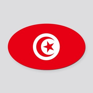 Tunisia Oval Car Magnet