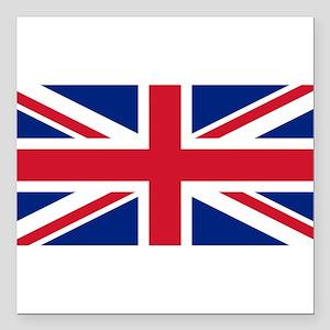 "United Kingdom Square Car Magnet 3"" x 3"""