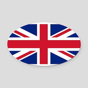 United Kingdom Oval Car Magnet