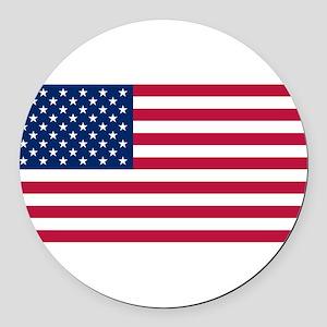United States Round Car Magnet