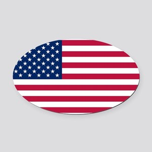United States Oval Car Magnet