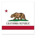 California Square Car Magnet 3