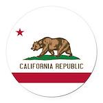 California Round Car Magnet