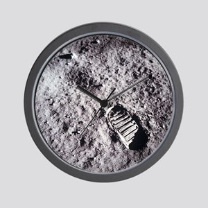 Apollo 11 Bootprint Wall Clock