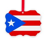 Puerto Rico Picture Ornament