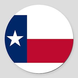 Texas Round Car Magnet