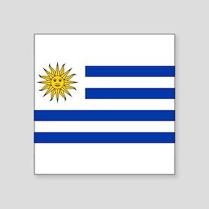 """Uruguay Square Sticker 3"""" x 3"""""""