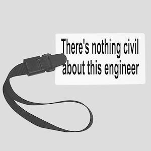 Civil Engineer Large Luggage Tag