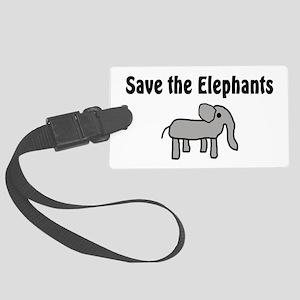 Save the Elephants Large Luggage Tag
