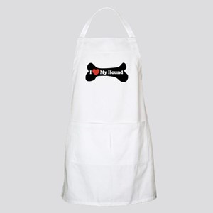 I Love My Hound - Dog Bone Apron