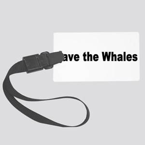 whale2 Large Luggage Tag