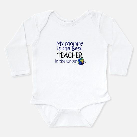 Cute World%27s greatest teacher Long Sleeve Infant Bodysuit