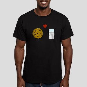 Cookie Loves Milk Men's Fitted T-Shirt (dark)