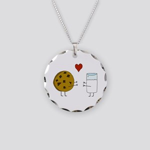 Cookie Loves Milk Necklace Circle Charm