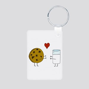 Cookie Loves Milk Aluminum Photo Keychain