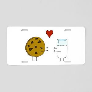 Cookie Loves Milk Aluminum License Plate