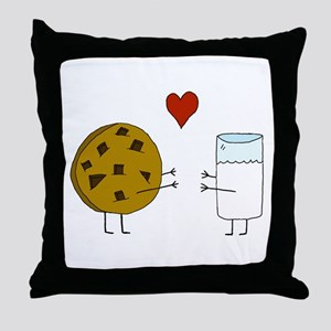 Cookie Loves Milk Throw Pillow