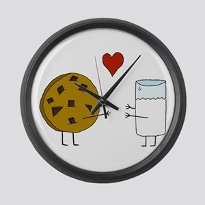 Cookie Loves Milk Large Wall Clock