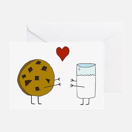 Cookie Loves Milk Greeting Card