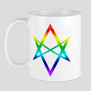 Rainbow Unicursal Hexagram Coffee Mugs Mug