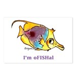 Funny cartoon fish Postcards (Package of 8)