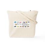 Funny cartoon fish Tote Bag