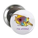 Funny cartoon fish Button