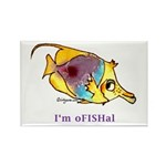 Funny cartoon fish Rectangle Magnet (100 pack)