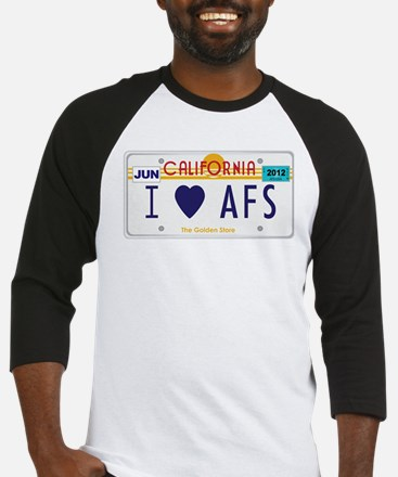 AFS CA license plate Baseball Jersey