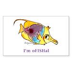 Funny cartoon fish Rectangle Sticker