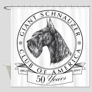 Giant Schnauzer Club of America Logo Shower Curtai