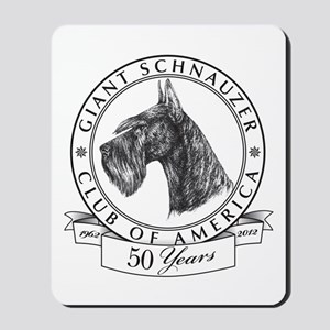 Giant Schnauzer Club of America Logo Mousepad
