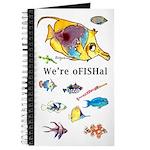 Cute & funny cartoon fish Blank Journal