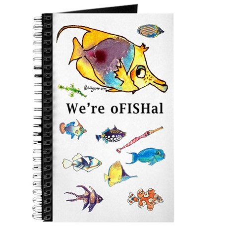 Cute & funny cartoon fish Blank Journal