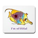 Funny cartoon fish Mousepad