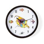 Funny cartoon fish Wall Clock
