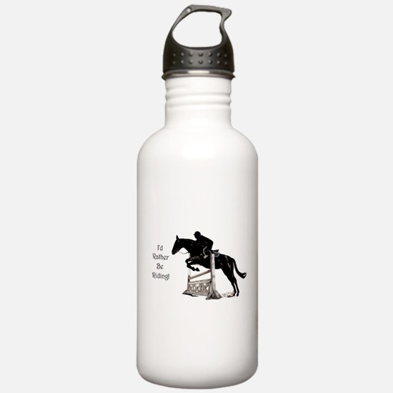 I'd Rather Be Riding Horse Water Bottle