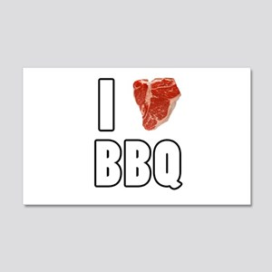 I Heart BBQ 20x12 Wall Decal