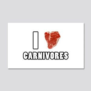 I Heart Carnivores 20x12 Wall Decal