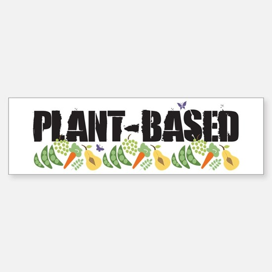 plant-based2-wht.png Sticker (Bumper)