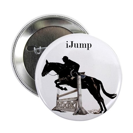 "Fun iJump Equestrian Horse 2.25"" Button (10 pack)"