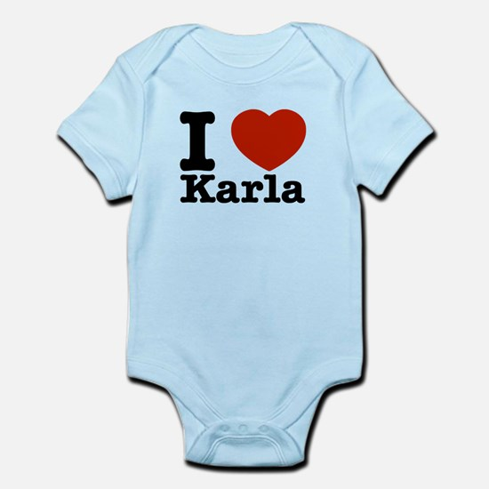 I Love Karla Infant Bodysuit